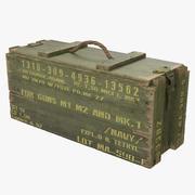 Ящик с боеприпасами Зеленый 3d model