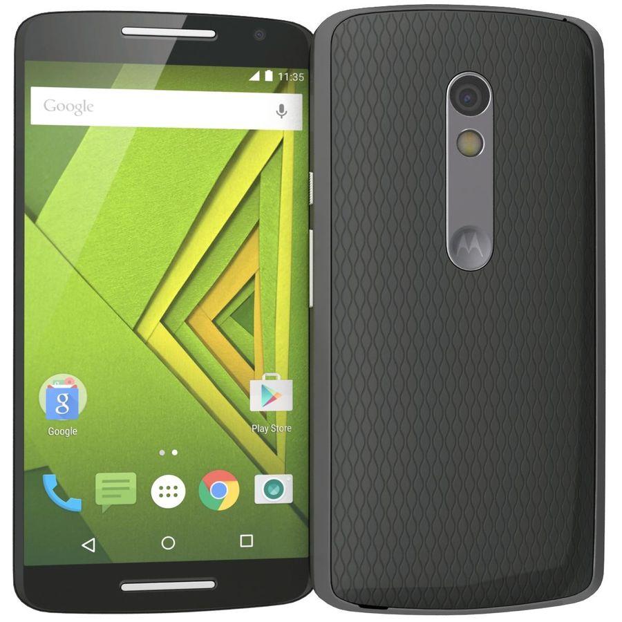 Motorola Moto X Play Black royalty-free 3d model - Preview no. 4