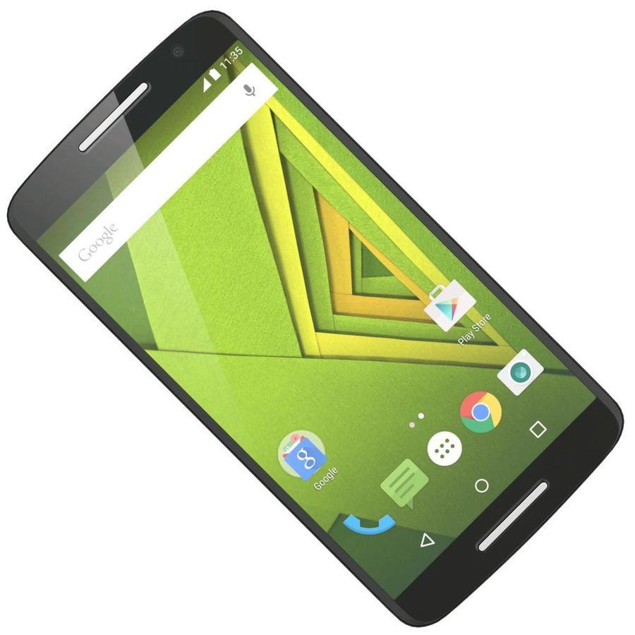 Motorola Moto X Play Black royalty-free 3d model - Preview no. 19