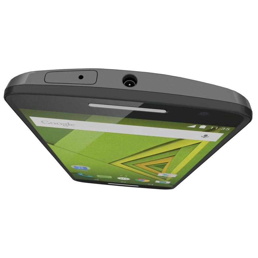 Motorola Moto X Play Black royalty-free 3d model - Preview no. 12