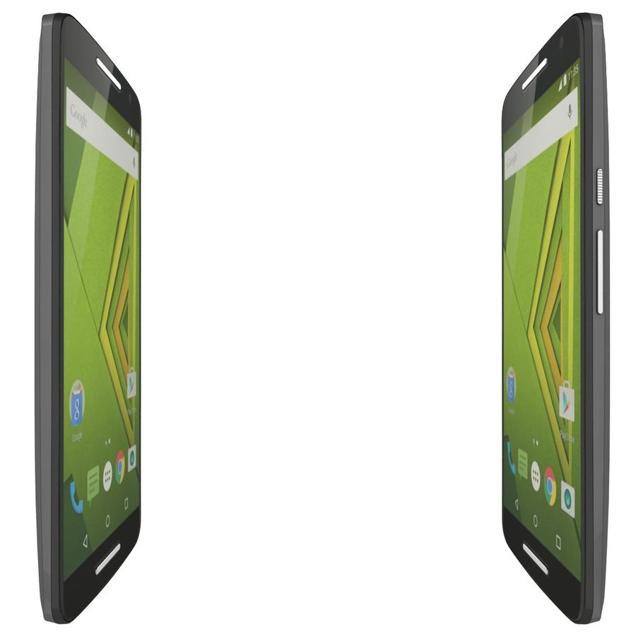 Motorola Moto X Play Black royalty-free 3d model - Preview no. 11