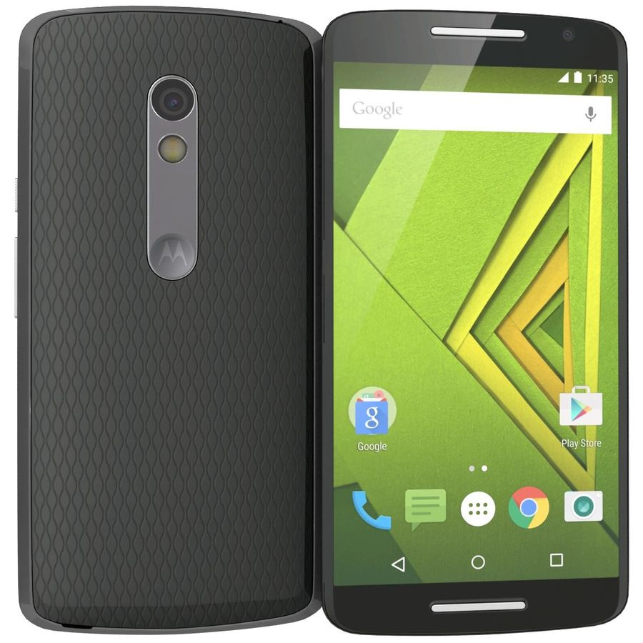 Motorola Moto X Play Black royalty-free 3d model - Preview no. 3