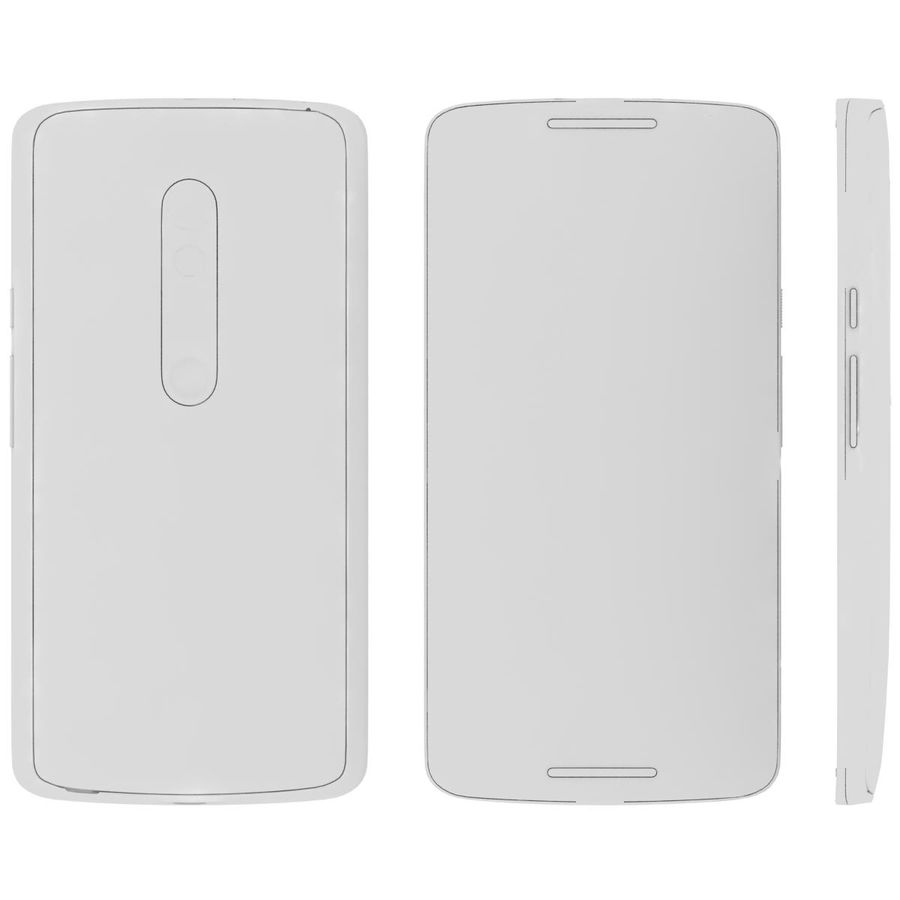 Motorola Moto X Play Black royalty-free 3d model - Preview no. 27