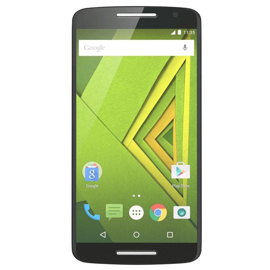 Motorola Moto X Play Black royalty-free 3d model - Preview no. 2