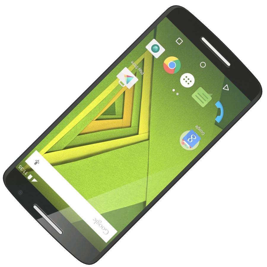 Motorola Moto X Play Black royalty-free 3d model - Preview no. 18