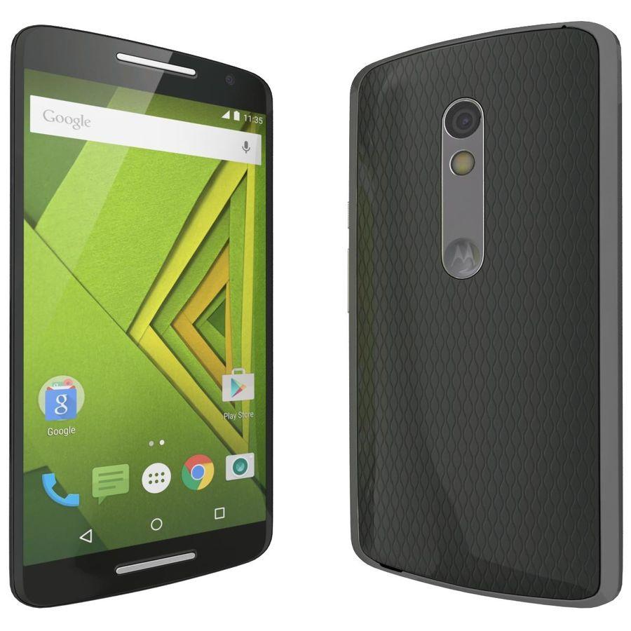 Motorola Moto X Play Black royalty-free 3d model - Preview no. 5