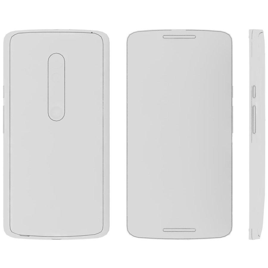 Motorola Moto X Play Black royalty-free 3d model - Preview no. 25