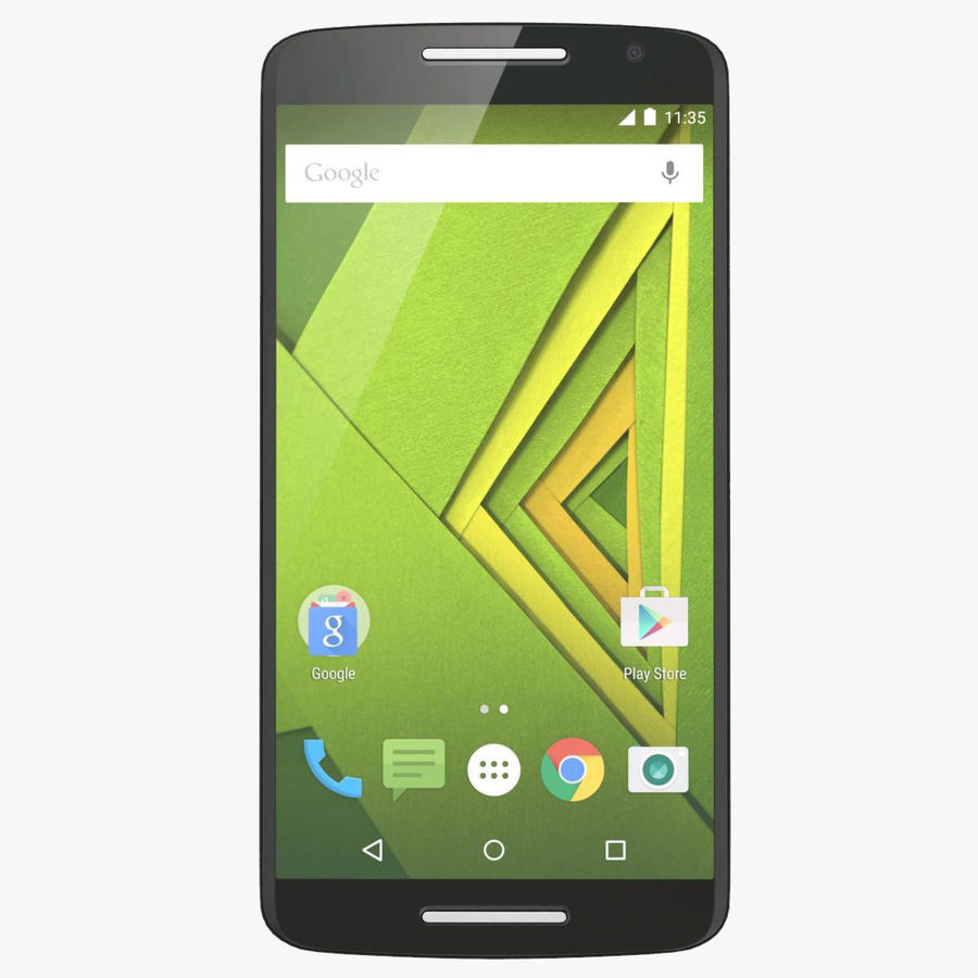 Motorola Moto X Play Black royalty-free 3d model - Preview no. 1