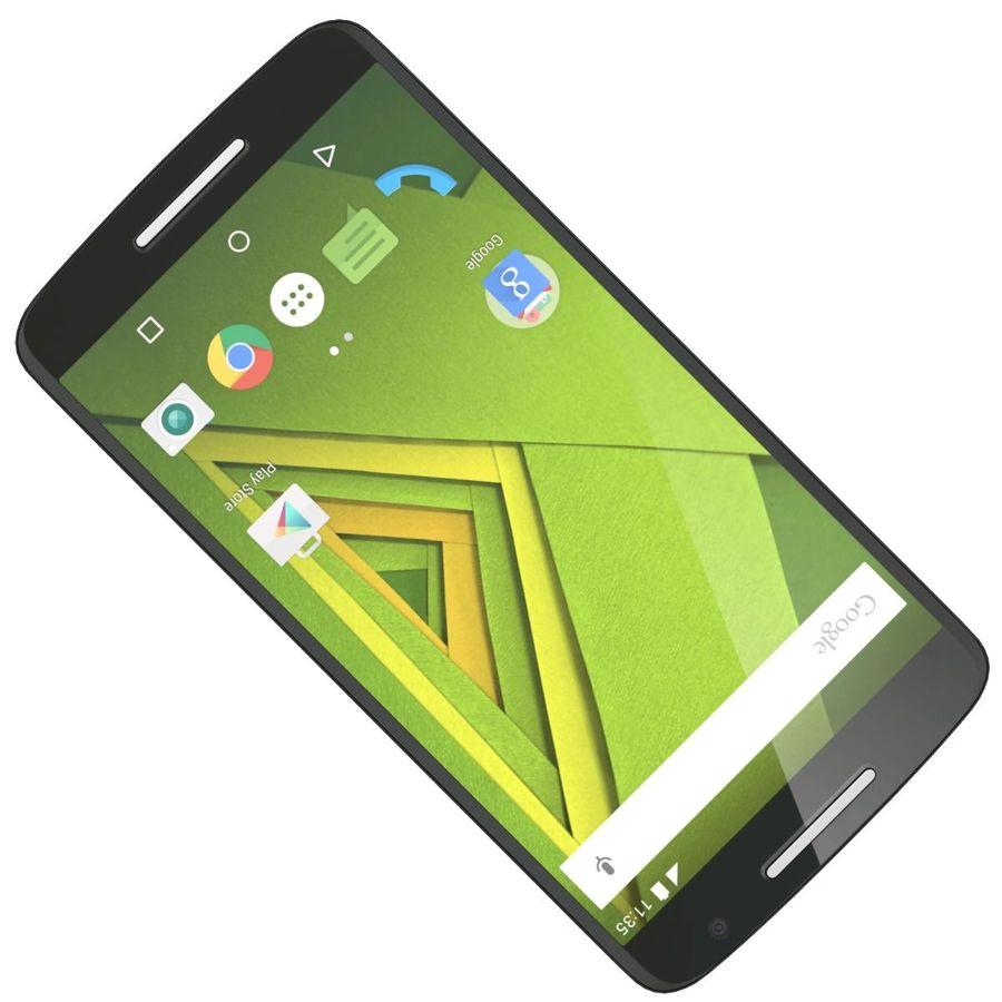 Motorola Moto X Play Black royalty-free 3d model - Preview no. 17