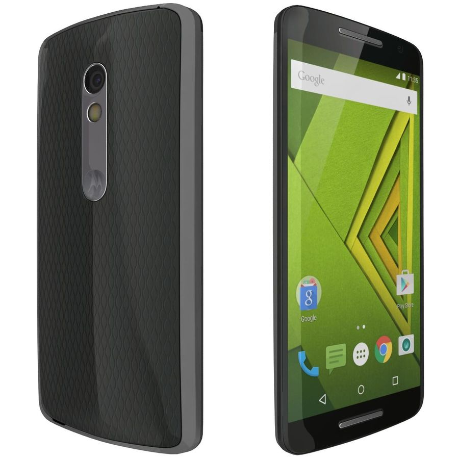 Motorola Moto X Play Black royalty-free 3d model - Preview no. 7