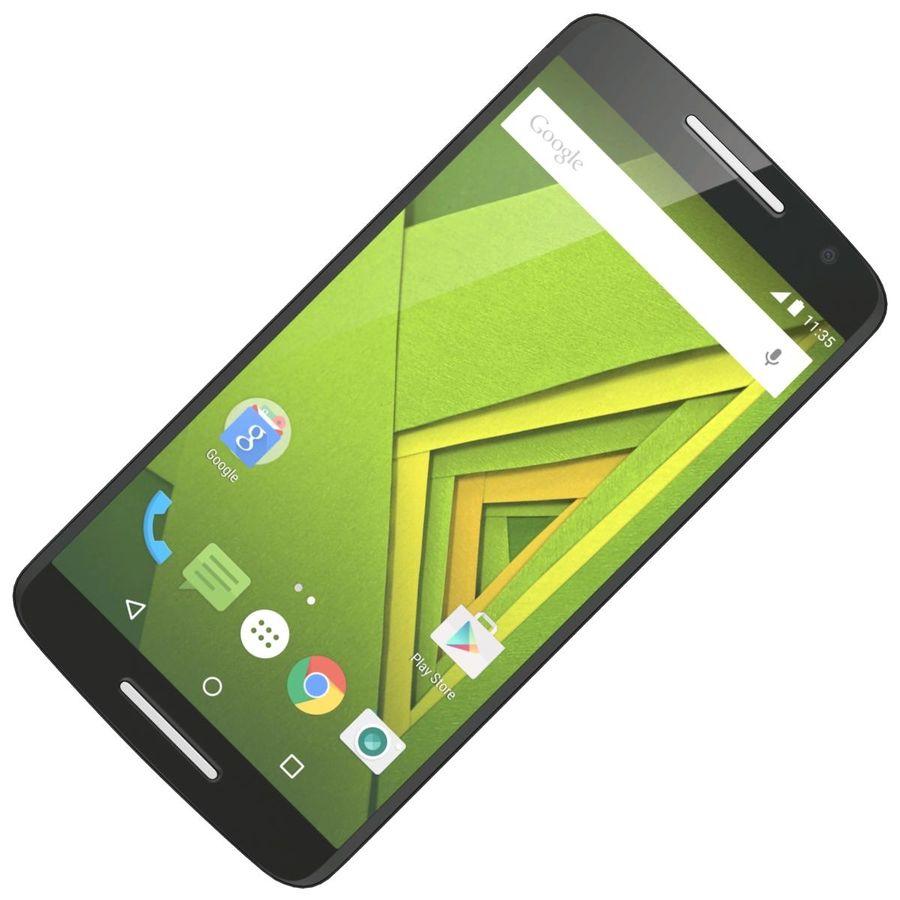 Motorola Moto X Play Black royalty-free 3d model - Preview no. 16