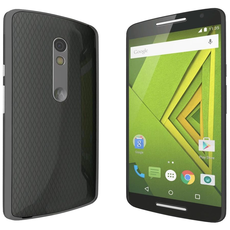 Motorola Moto X Play Black royalty-free 3d model - Preview no. 6