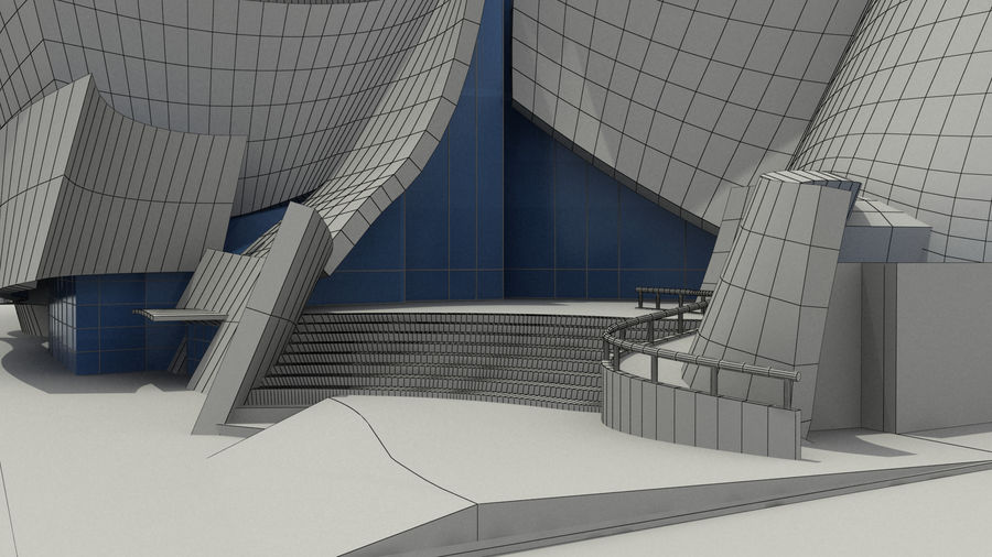 Walt Concert Hall Building royalty-free 3d model - Preview no. 9