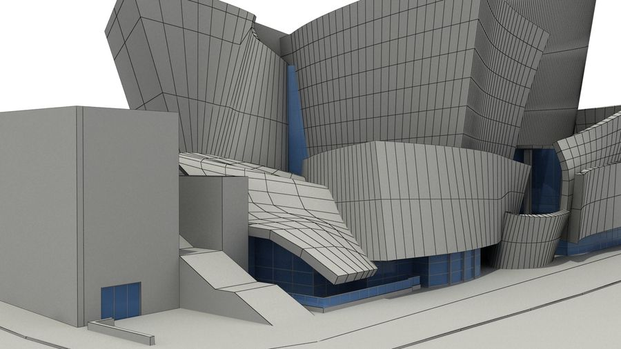 Walt Concert Hall Building royalty-free 3d model - Preview no. 12