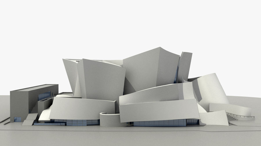 Walt Concert Hall Building royalty-free 3d model - Preview no. 3