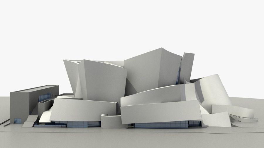 Walt Concert Hall Building royalty-free 3d model - Preview no. 3