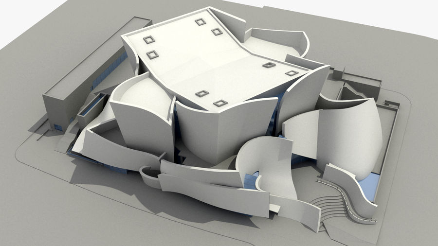 Walt Concert Hall Building royalty-free 3d model - Preview no. 2