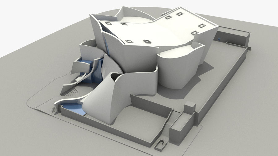 Walt Concert Hall Building royalty-free 3d model - Preview no. 6