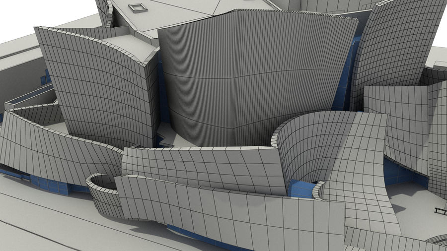 Walt Concert Hall Building royalty-free 3d model - Preview no. 8