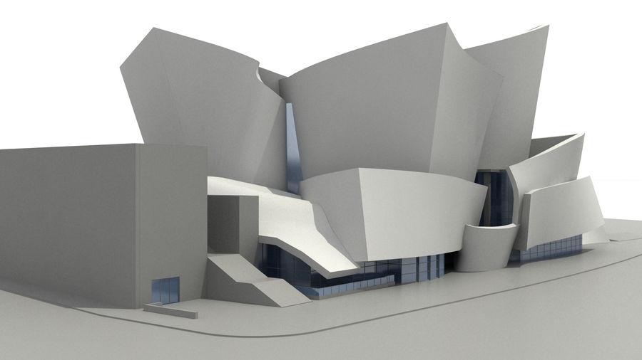 Walt Concert Hall Building royalty-free 3d model - Preview no. 4