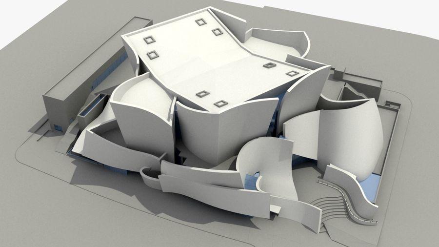 Walt Concert Hall Building royalty-free 3d model - Preview no. 2