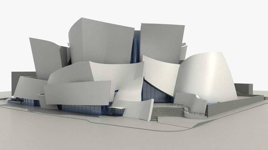Walt Concert Hall Building royalty-free 3d model - Preview no. 1