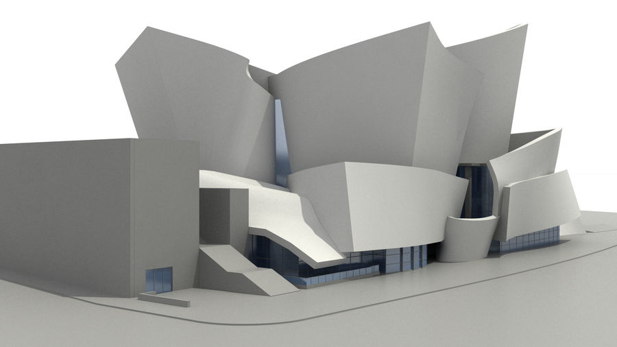 Walt Concert Hall Building royalty-free 3d model - Preview no. 4