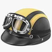 Шлем с очками 3d model