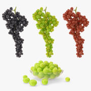 Collection realistic grapes 3d model