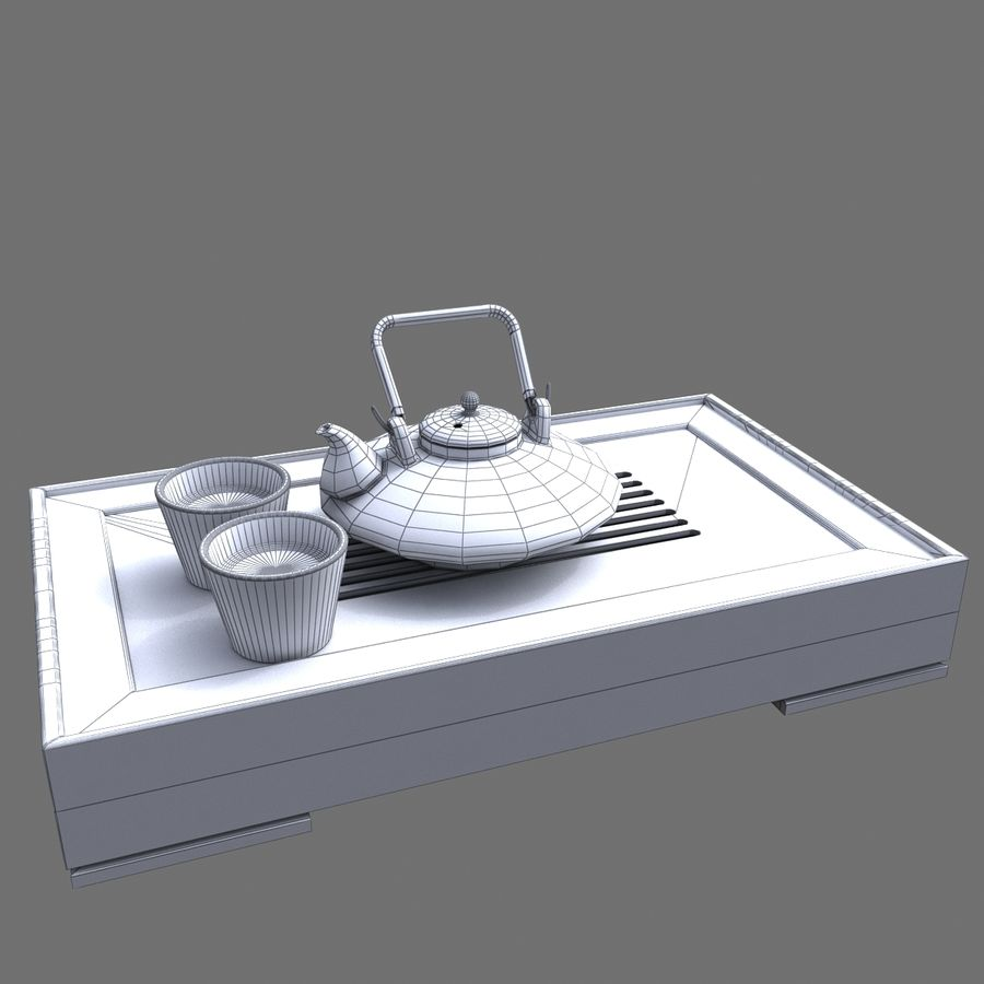 Teiera Asiatica royalty-free 3d model - Preview no. 6