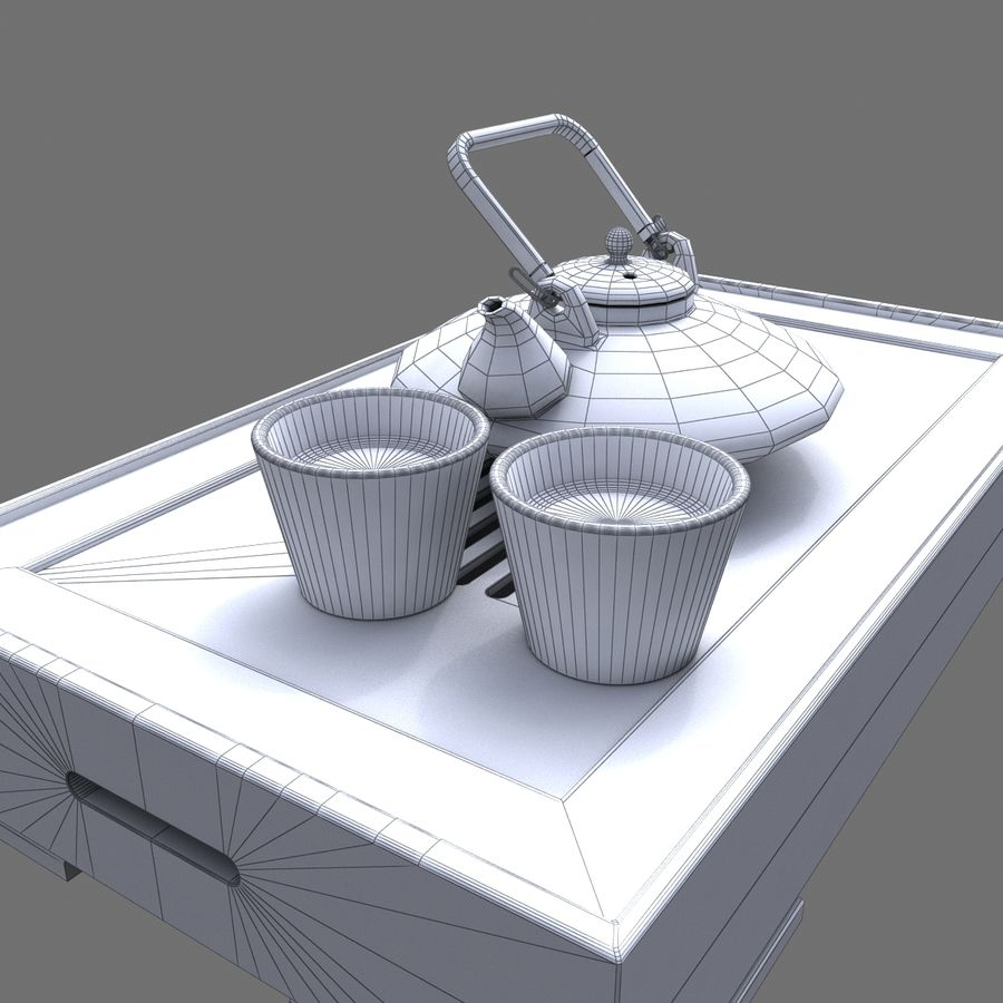 Teiera Asiatica royalty-free 3d model - Preview no. 5