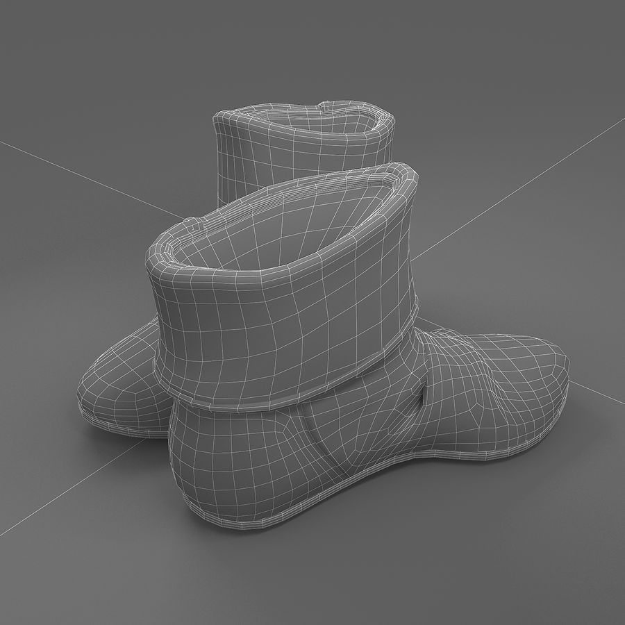 shoes-03 royalty-free 3d model - Preview no. 4