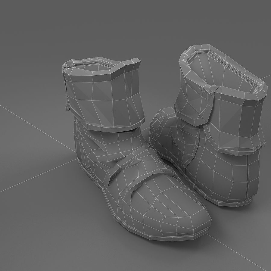 shoes-03 royalty-free 3d model - Preview no. 2
