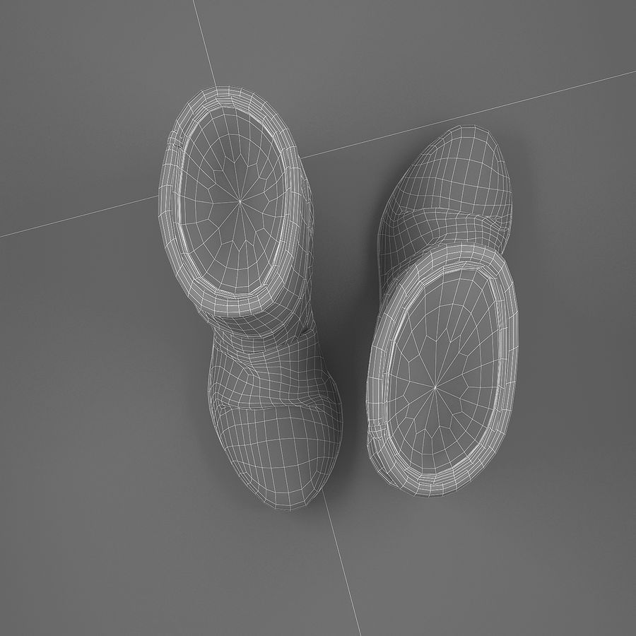 shoes-03 royalty-free 3d model - Preview no. 5