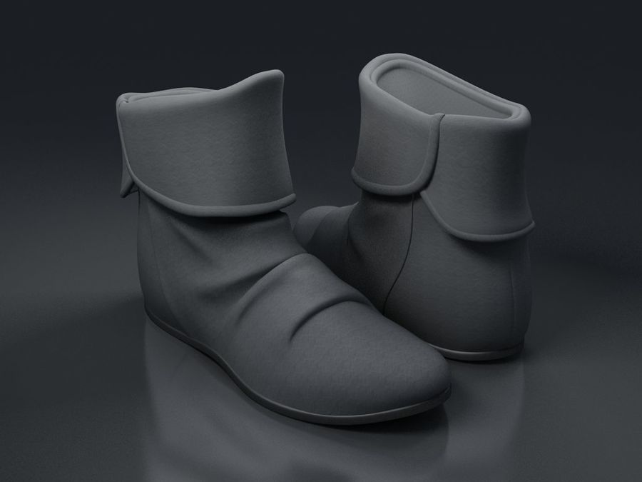 shoes-03 royalty-free 3d model - Preview no. 1