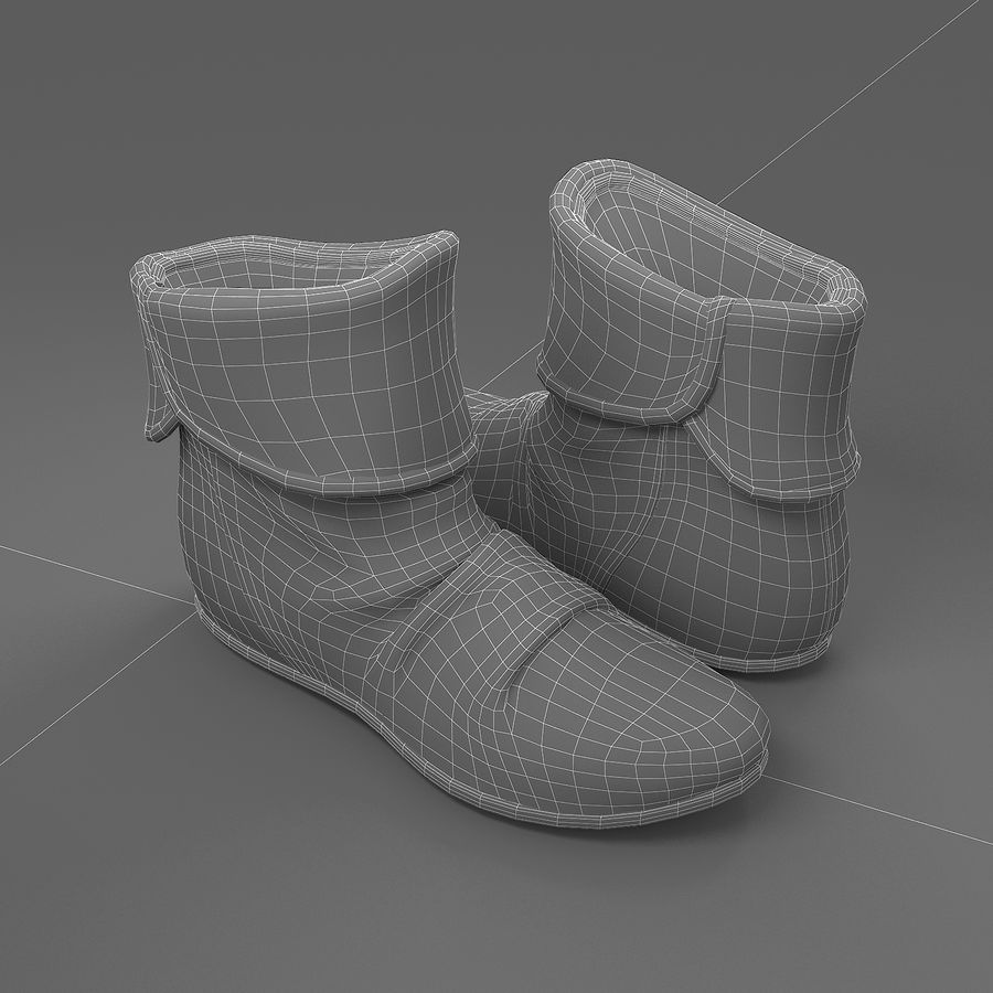 shoes-03 royalty-free 3d model - Preview no. 3