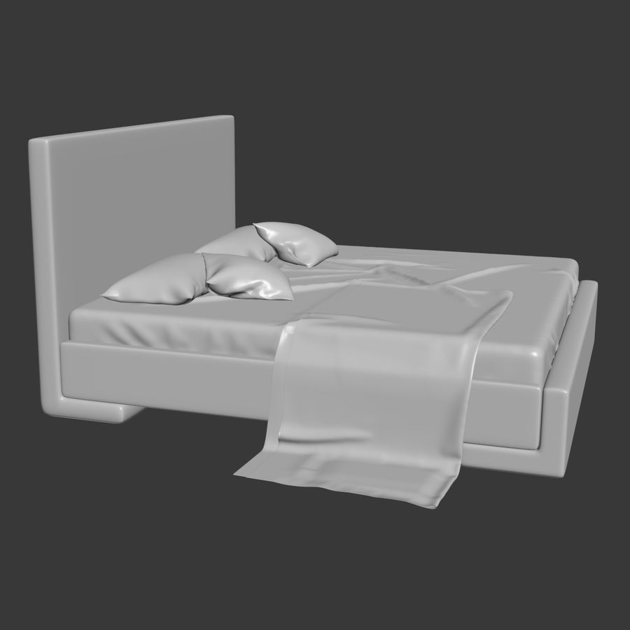 Bed royalty-free 3d model - Preview no. 4