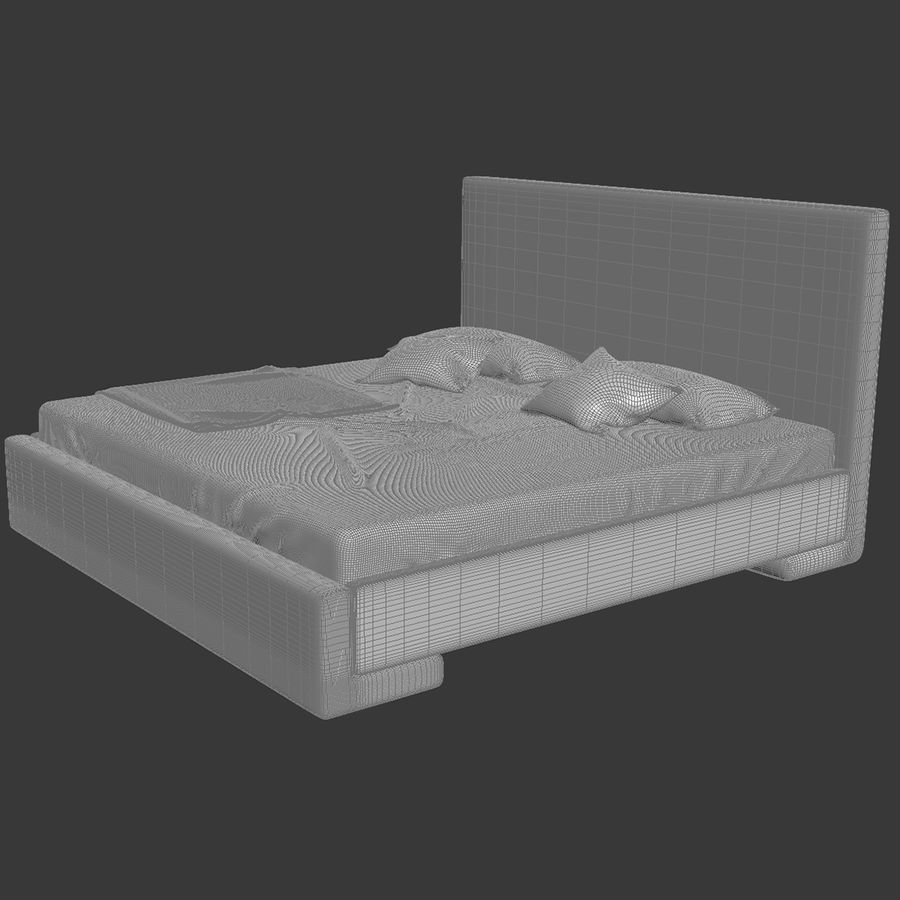 Bed royalty-free 3d model - Preview no. 11