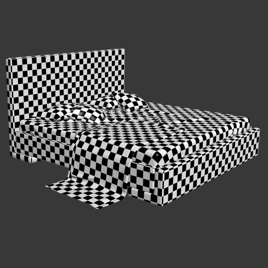 Bed royalty-free 3d model - Preview no. 12