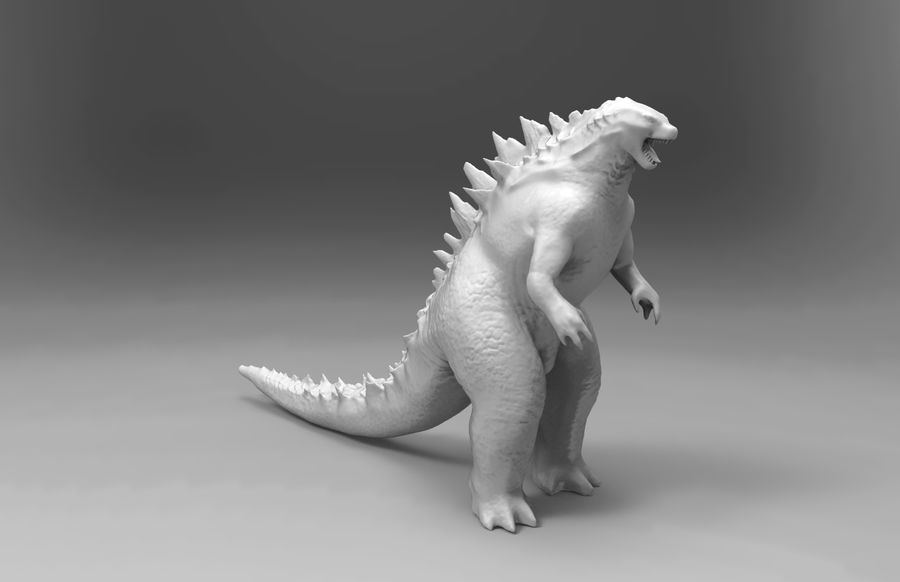 Godzilla royalty-free 3d model - Preview no. 1