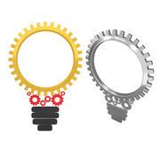 Engranajes mecánicos de bulbo de máquina 2 modelo 3d