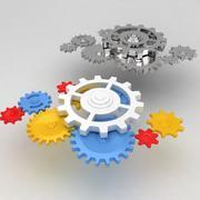 Mechanical machine gears 2 3d model