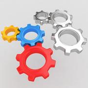 Mechanical machine gears 5 3d model