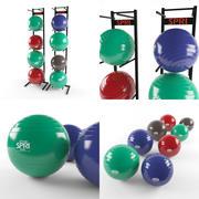Bolas de exercício Spri 3d model