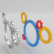 Mechanical machine gears 4 3d model