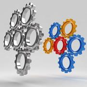 Mechanical machine gears 8 3d model