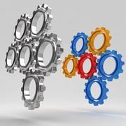 Mechanical machine gears 8 3d model