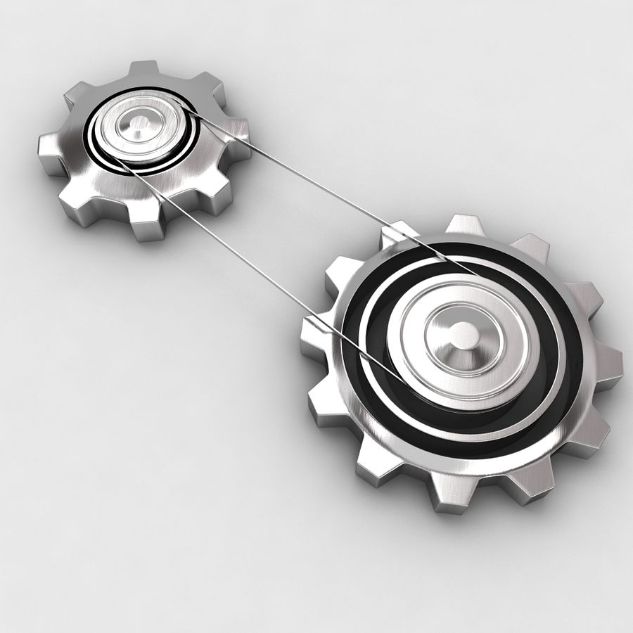 Mechanical machine gears chain royalty-free 3d model - Preview no. 1