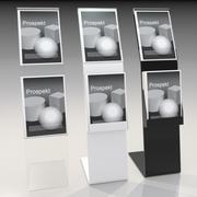 Présentateur de brochures en acrylique 3d model