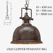 Old Copper Pendant Big 3d model